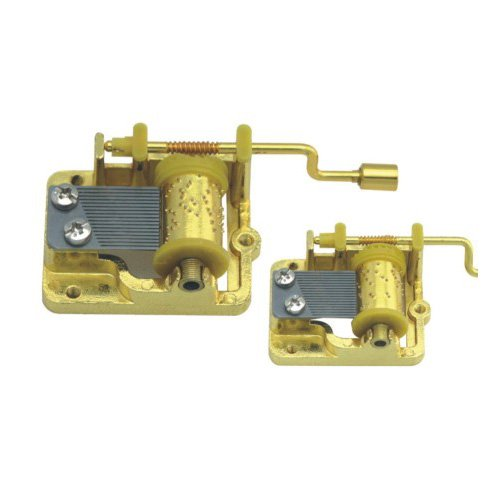 (Hand Crank 18 Note Gold Plating Music Movement, Play the Wind Forest From Totoro)