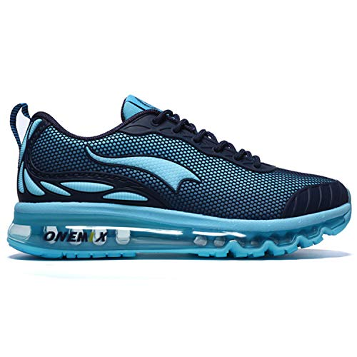 Air Sneakers Respirante Bleu Chaussures Jogging Course Baskets Gym Lacet Onemix Homme xHAOqnwn