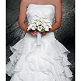 Bulk Buy: Darice DIY Crafts David Tutera White Satin Bouquet Wrap with Rhinestones (3-Pack) DT4028