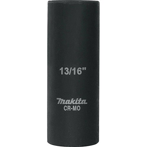 "Makita A-96300 13/16"" Deep Well Impact Socket with 1/2"" Drive"