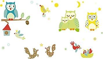 anna wand Wandsticker FUNNY FOREST - Wandtattoo für Kinderzimmer ...