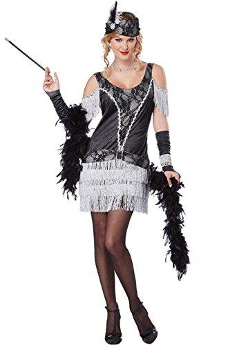 Mememall Fashion Razzle Dazzle Ritz Flapper 1920s Adult Costume (Deluxe Flapper Girl Costume)