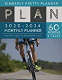 5 year monthly planner 2020-2024: calendar planner 2020-2024 : password keeper and Journal, 60 Months Calendar (5 Year Monthly Plan Year 2020, 2021, 2022, 2023, 2024 ) | bicycling science design