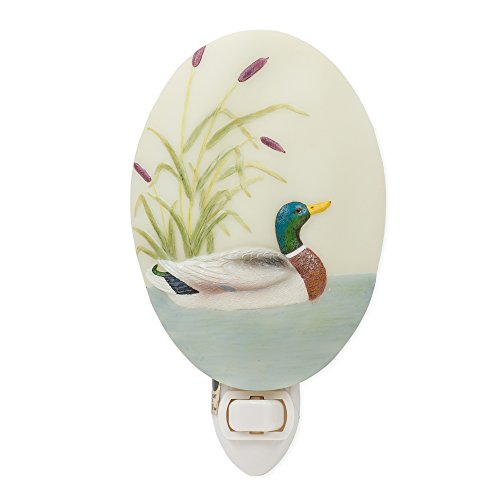 Duck Lake Cattails Night Light Ibis & Orchid Flowers of Light Collection by Ibis & Orchid Design