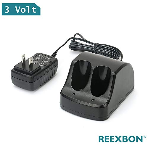Reexbon Black and Decker Bettery Charger 3.6V for Versapak Battery Ni-CD and Ni-MH VP100 VP110 VP130, 1A Dual Port