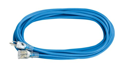 Voltec 05-00136 50 16/3 SJEOOW All-Flex Extension Cord with Lighted End, 50-Foot, Blue