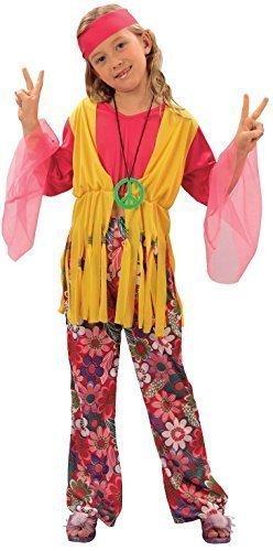Bristol Novelty CC617 Traje Niña Hippie, Pequeño, Edad aprox 3 -5 ...