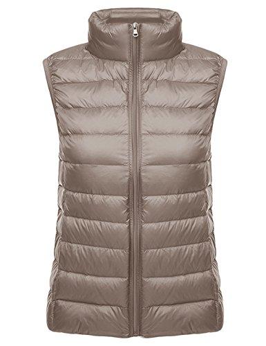 Waistcoat Down Vest (Yeokou Womens Slim Packable Lightweight Quilted Short Puffer Down Vest Waistcoat)