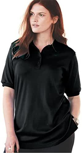 Women's Plus Size Top, Tunic Length, Generous Fit Polo