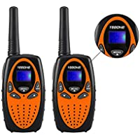 2 Packs YEEONE Kids Two Way Radio Walkie Talkies (Orange)