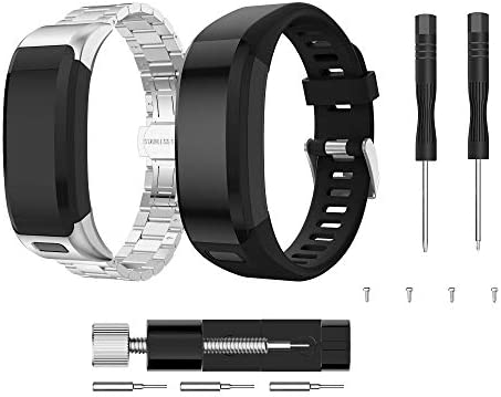 Younsea CompatibleGarmin Vivosmart HR Bands Replacement Stainless Steel Metal Band Milanese Loop Bracelet Replacement Strap for Garmin Vivosmart HR Tracker (NOT Compatible Vivosmart HR+)