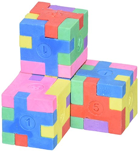 Rhode Island Novelty Puzzle Cube Erasers - 12 Count for $<!--$6.79-->
