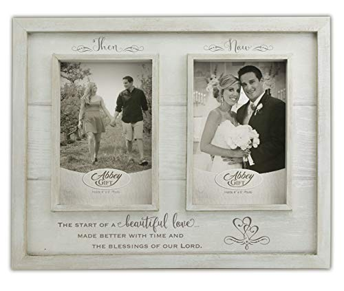 Abbey Gift Then & Now Anniversary Wood Frame, 12
