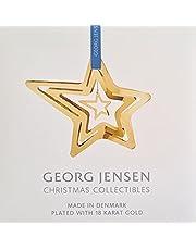 Georg Jensen Kerstmis 2021 Ornament Mobile Shooting Star, Gold Brass door Sanne Lund Traberg