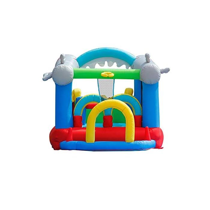 41vWFNySUZL El castillo hinchable hará que todos los niños felices, lo que traerá mucha felicidad a sus hijos, pueden compartir el tiempo de juego valioso con los amigos. Tamaño de medios: Oxford tela respetuosa del medio ambiente, de PVC; 570x270x230cm; castillos hinchables, bolsa de agua y 30 bolas juguetes incluidos. ultiple deportes combinados con diseño especial para los ancianos 3-10: escalada, toboganes, área, aro de baloncesto, piscina de bolas y el océano saltando bajo este gorila inflable tiene muchos deportes diferentes que mantendrán chico de 3 años de edad, para encontrar su apretada 10favorito.