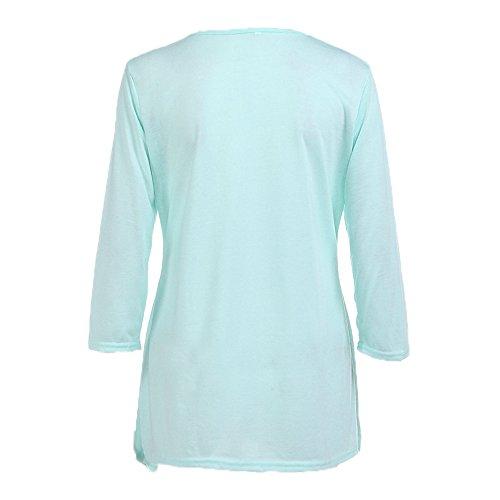 Garniture de de Lonshell Tunique Bleu Chemisier Chemise de Femme T Shirt de Bouton vqS8z6vw