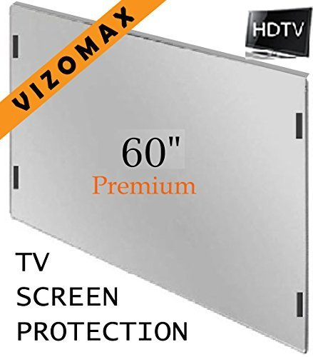 60 inch Vizomax TV Screen Protector for LCD, LED & Plasma HDTV (60 Hdtv Lcd Led)