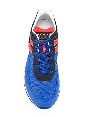 Hogan Rebel Sneakers Uomo HXM2610R670FMN0XU9 Poliammide Blu