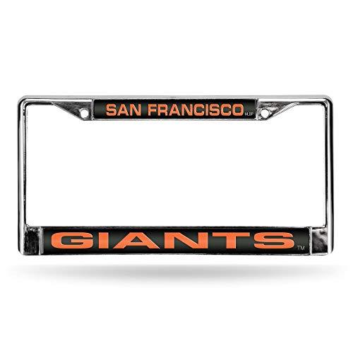 (Rico San Francisco Giants MLB Chrome Metal Laser Cut License Plate Frame)