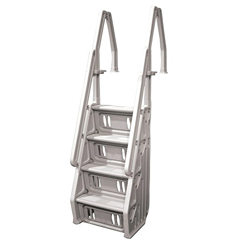 Vinyl Works Deluxe Above Ground in-Pool Step Ladder - 24 Inch (Above Pool Ground Steps Swimming)