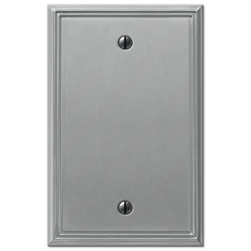 Metro Line Brushed Nickel - 1 Blank Wallplate (Creative Accents Wall Plate)
