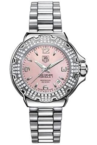 TAG Heuer Women's WAC1216.BA0852 Diamond Pink Dial Formula One Watch (Pink Tag Watch)