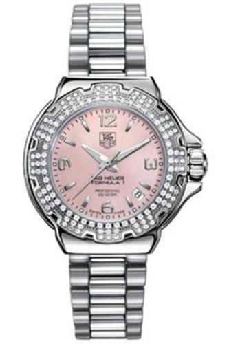 TAG Heuer Women's WAC1216.BA0852 Diamond Pink Dial Formula One Watch