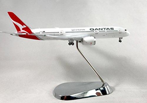 GeminiJets Qantas Boeing 787-9 Dreamliner Diecast Airplane Model VH-DRM With Chrome Stand 1:400 Scale Part# (Qantas Vh)
