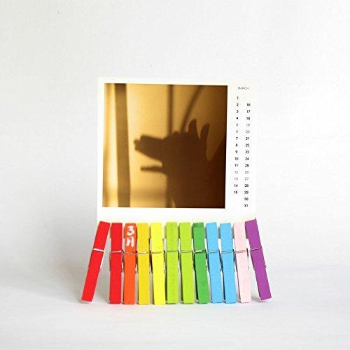 2017 Desk Calendar with Rainbow octopus Stand, stocking stuffer (Card Dilbert Christmas)