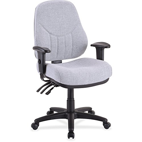 Lorell High-Back Multi-Task Chair, 26-7/8 by 26 by 39-Inch to 42-Inch-1/2-Inch, Gray