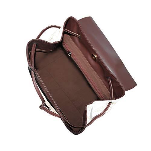 Spire mönster orange design ryggsäck handväska mode PU-läder ryggsäck ledig ryggsäck för kvinnor