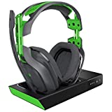 ASTRO Gaming A50 Cuffia con Microfono Wireless e Base di Ricarica con Audio Dolby Surround 7.1, Compatibile con Xbox One, PC, Mac, Grigio/Verde