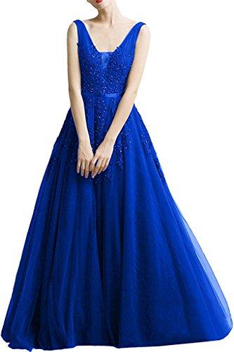 mujer Vestido para azul Topkleider real trapecio C7xTAqw7O