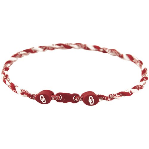 18' Titanium Necklace (NCAA Oklahoma Sooners 18'' Twist Titanium Sport Necklace)