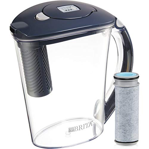 Brita Large 10 Cup Stream Filter as You Pour Water Pitcher with 1 Filter, Rapids, BPA Free, Available in Multiple Colors