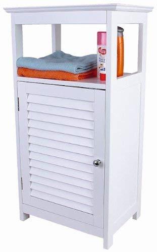 Spetebo Badezimmer Kommode in weiss - Badezimmerschrank