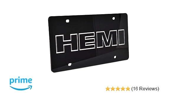 Hemi 5.7 Liter Mirror Stainless Steel License Plate