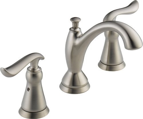 Delta 3594LF-SSMPU Linden Two Handle Widespread Bathroom Faucet, Stainless by DELTA FAUCET