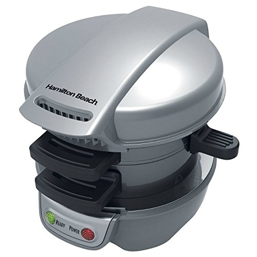 Hamilton Beach Breakfast Sandwich Maker Black, Silver 25475