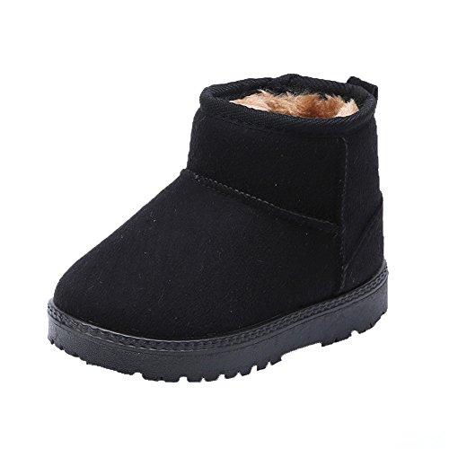 MK MATT KEELY Winter Boots for Boy Girl Soft Warm Shoes Toddler Black Snow Boots (Toddler/Little Kid)
