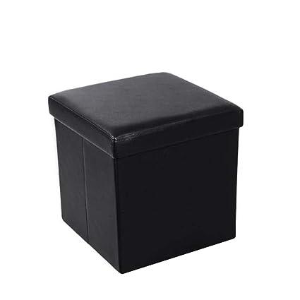 Fine Amazon Com Wotryit Collapsible Faux Leather Storage Ottoman Dailytribune Chair Design For Home Dailytribuneorg