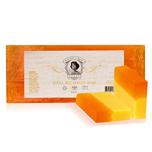 Royal Honey Soap Loaf - Gentle Soap with Olive Oil, Cocoa and Shea Butter - Paraben Free Body Soap - Slather On Some Liquid Gold - 35 - Oz Body 35