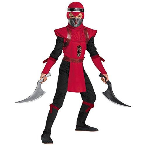 Red Viper Ninja Deluxe Child Costume - Medium -