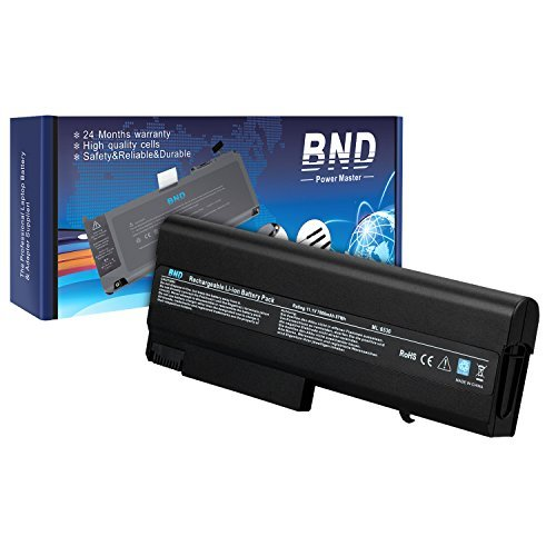 BND 7800mAh Laptop Battery Compatible with HP EliteBook 8440p 8440w 6930p / Compaq 6730b 6735b 6530b / ProBook 6440b 6445b 6540b 6545b, fits PN 482962-001 / HSTNN-UB69 [Li-ion 9-Cell]