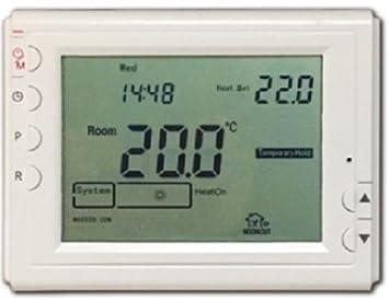 Termostato digital de control remoto wifi inalámbrico mediante App Smartphone para la regulación de encendido los