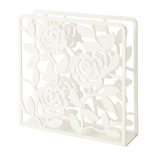 Ikea Napkin Holder - Ikea Napkin Holder White Floral Design, Steel