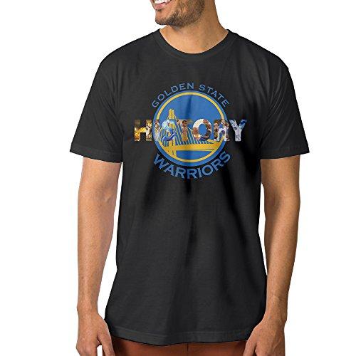 Show Time Men's Warriors' History Short Sleeve Fashion Tshirt Black XL
