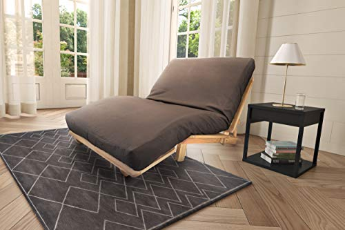 KD Frames 4833-KD-T KD Lounger Mattress Natural Poplar