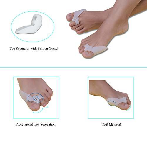 Bunion Corrector Pads Kit Bunion Protector Toe Spreader Bunion Relief Socks Sleeves Toe Stretcher & Separator,Foot Massage Ball for Tailors Bunion,Hallux Valgus,Overlapping Toes,Big Toe Joint by Carikaien (Image #2)