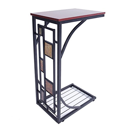 (Marketworldcup Coffee Tray Side Sofa Table Couch Room Console Stand End TV Lap Snack Drink )